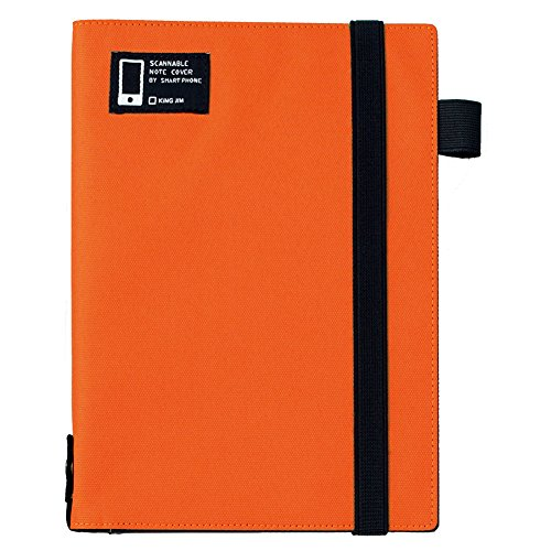 スキャンしやすいノートカバー A5 1791 オレンジ