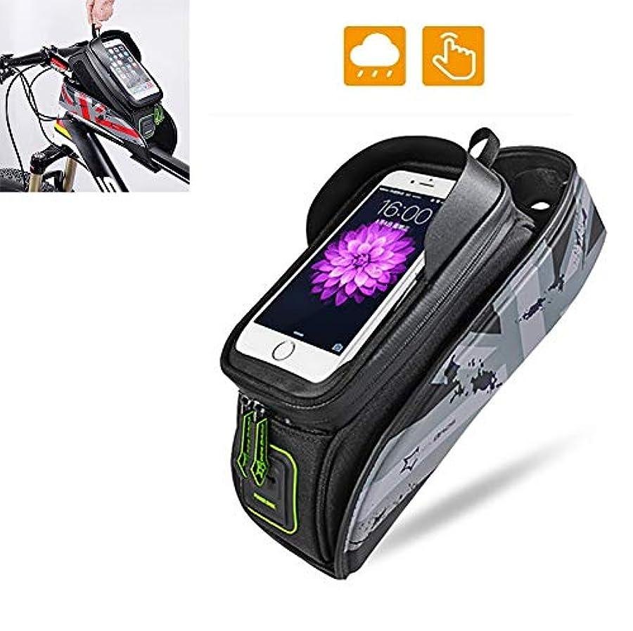 前売電気顎自転車バッグフレームフロントトップチューブサイクリングパック反射5.8 / 6電話ケースタッチスクリーンバッグ自転車アクセサリー