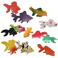 Hommy 人気動物 フィギュ 金魚セット モデルセットアニマル プラスチック おもちゃ モデル 12個セット