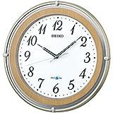 SEIKO CLOCK (セイコークロック) 掛け時計 衛星電波 アナログ SPACE LINK(スペースリンク) 薄茶木目模様 GP206B