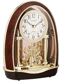 シチズン 置き時計 電波 アナログ パルドリームR414 毎正時 メロディ 12曲 入り 茶 CITIZEN 4RN414-023