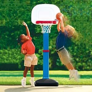 ミニ子供用バスケットゴール ボール付ネジ不要 室内・屋外兼用 リトルタイクス(little tikes)社製 バスケットゴール