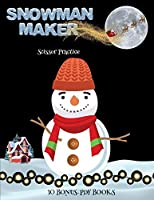 Scissor Practice (Snowman Maker): Make your own snowman by cutting and pasting the contents of this book. This book is designed to improve hand-eye coordination, develop fine and gross motor control, develop visuo-spatial skills, and to help children sus