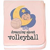 CafePress – Dreamingについてバレーボール – スーパーソフトベビー毛布、新生児おくるみ ピンク 05754693746832E