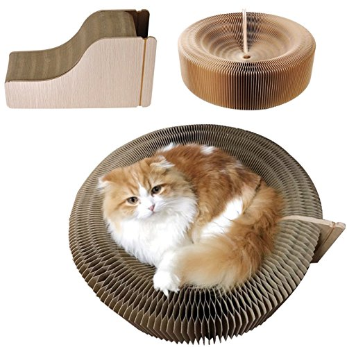 FIRIK(フィリク) 猫 爪研ぎベッド 大きい ダンボール 猫ソファー爪り研ぎ 変形 Lサイズ 大きい ストレス解消 折り畳み式 運動不足解消 Lサイズ