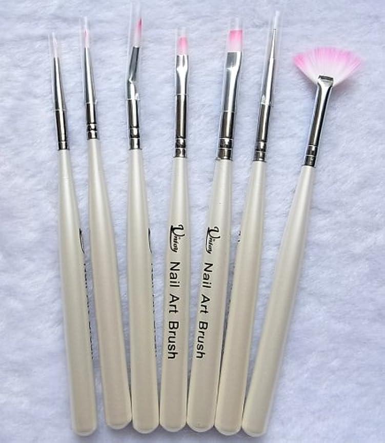 場所リクルート添付7本セット お急ぎ便対象 ジェルネイル筆、ネイルアート筆 キャップつきドットペン入り ジェルネイル、ネイルアートに (7本セット)