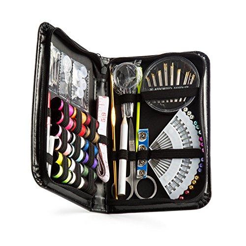AZLHL 裁縫セット ソーイングセット ポータブルミシンアクセサリー 携帯用 ブラック
