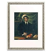 ニコロ・デッラバーテ Niccolò dell'Abbate 「Mann mit Papagei.」 額装アート作品