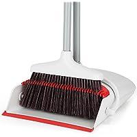 新型のほうき&ちりとりセット 収納に便利 掃除道具 掃き掃除 ほうき?ちりとりセット 掃除セット (RED)