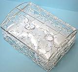 ボックス型リングピロー(シルバー ワイヤー)完成品 幅12×奥行き9×高さ6cm