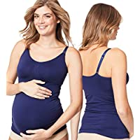 Cake Maternity Women's Toffee Seamless Shaping Maternity and Nursing Tank, Midnight Blue, Small