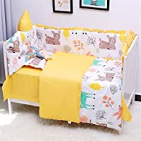 Abreeze Baby Boy 7 Pieces Nursery Crib Bedding Set withバンパー L52