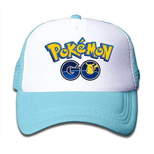 PGIG Kid 's Pokemon Goロゴ調節可能なメッシュトランク野球帽子/キャップ