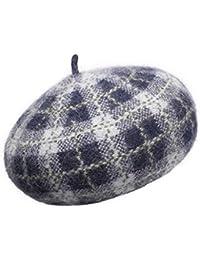 ベレッツレディースペインターハット春と秋冬ウール帽子ファッションベレーソフトオクタゴンキャップ (色 : Gray)