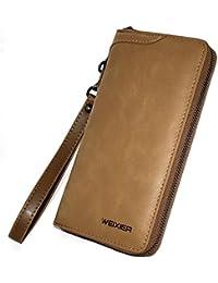 a069962f25b3 長財布 本革 マネークリップ メンズ 薄型 紳士 小銭入れ ラウンドファスナー コンパクトiphone7 iphone8入れ スマホ財布 免許証入れ  大容量 多機能…
