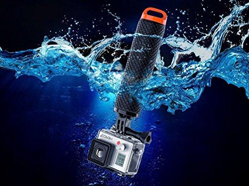 MyArmor Gopro用 ハンドグリップ 軽量 防水 ソフト APEMAN/Victure/MUSON等アクションカメラ/スポーツカメラ用 スタビライザー フローティング スティック 浮き グリップ 浮力スポンジ 自撮り棒 フロートグリップ ネジ&腕ストラップ付き