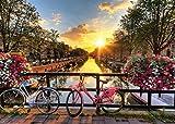 ジグソーパズル 光射す運河と町並(アムステルダム) 500ピース (38×53cm)