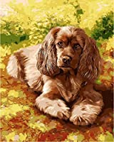 Yyboo Diy Oil Painting By Numbers Golden Retriever Pictures On Canvas Painting For Living Room Wall Art Home Decor