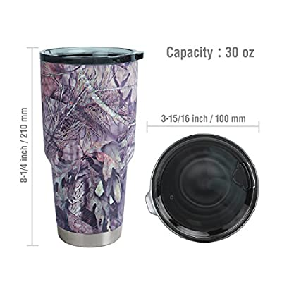 Mossy Oak 850ML Stainless Steel Vacuum Insulated Tumbler Outdoor Mug with Special Designed Cover