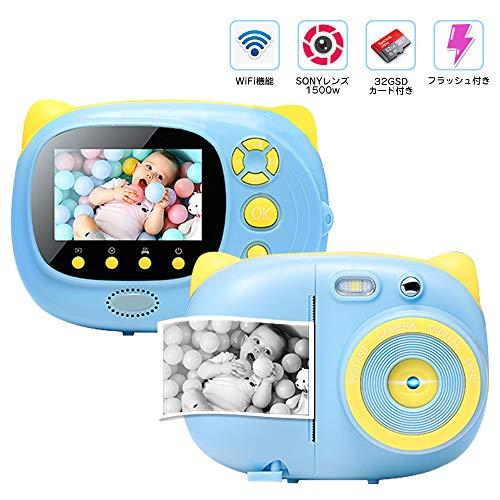 チェキカメラ インスタントカメラ 子供用デジタルカメラ 32...