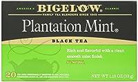 Bigelow Tea - 黒茶 Plantation ミント - 1ティーバッグ