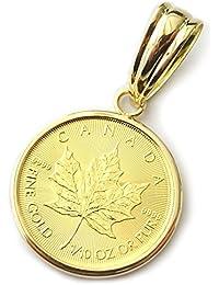 メイプルリーフ金貨K24純金コイン1/10oz ペンダントトップA11100591【ギフトラッピング済み】