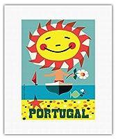 ポルトガル - ビンテージな世界旅行のポスター によって作成された グスタボ フォントーラ c.1959 - キャンバスアート - 28cm x 36cm キャンバスアート(ロール)