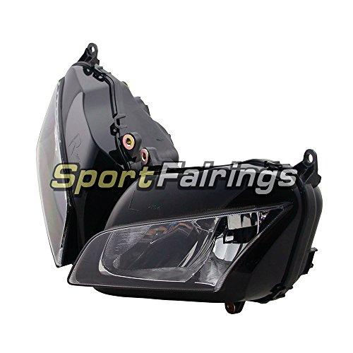 Sportfairings ヘッドライトアセンブリホンダ CBR600 CBR600RR F5 年 2007 2008 2009 2010 2011 2012 オートバイヘッドランプクリアレンズ新しい