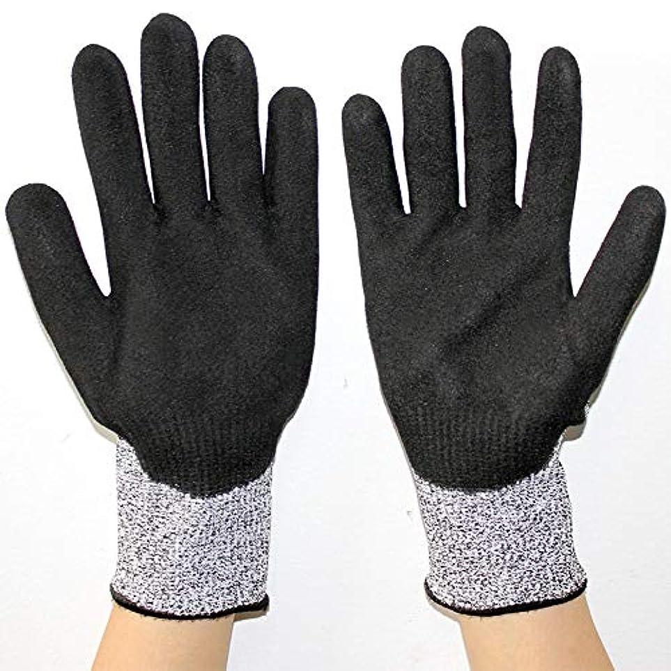 メッセンジャー人相対サイズ耐久性のある手袋をカットするPPEレベル5の保護、アンチ?スラッシュの安全手袋、キッチン、庭園、作業場用 滑り止め摩耗