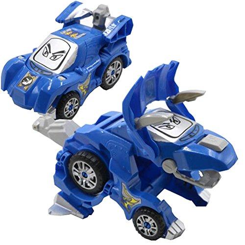 パズルの変形恐竜の車の少年の変形レーシングカーのおもちゃの青