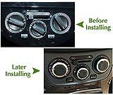 3ピース/セット車スタイリング空調熱制御スイッチノブacノブカーアクセサリー用日産ティーダ/nv200/リヴィナ/ジェニス
