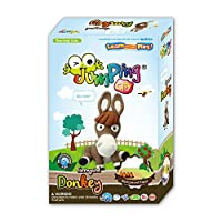 Donkey - Kids Air Dry Modelling Clay Kit Farmyard Animals by JumpingCLAY