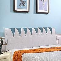 PENGFEI クッションベッドの背もたれ ベッドサイドソフトカバー 腰椎枕 反衝突 ウォッシャブル、 ヘッドボード標準の有無にかかわらず、 5色、 5サイズ (色 : Blue green with Headboard, サイズ さいず : 90CM)