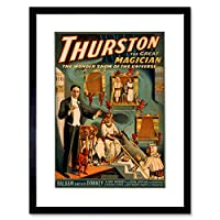 Theatre Illusion Magic Thurston USA Advert Framed Wall Art Print アメリカ合衆国