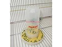 Osize 2 in 1プラスチックバードフィーダーバードウォーターディスペンサーオウムを飲む泉 - 透明な色
