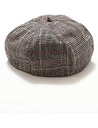 [REPIDO (リピード)] ベレー帽 メンズ 帽子 ウール ベレー フェルト レディース ユニセックス 無地 チェック柄