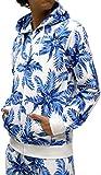 (マルカワジーンズパワージーンズバリュー) Marukawa JEANS POWER JEANS VALUE 上下セット メンズ セットアップ トレーニングウェア 花柄 3color M ブルー