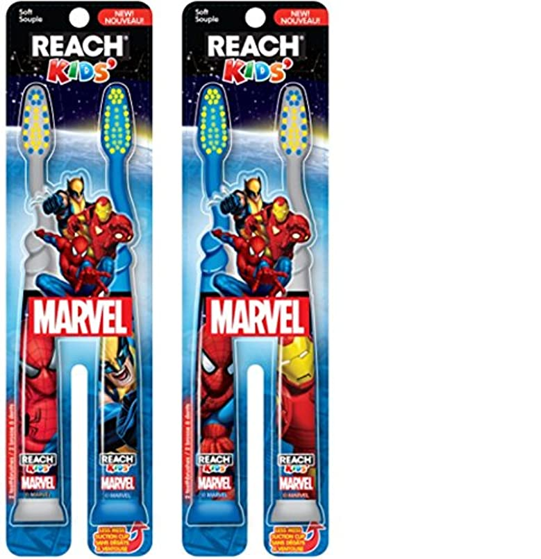 スローつまずく貼り直すReach Kids Mavel Soft Toothbrush, 2 Count by Reach