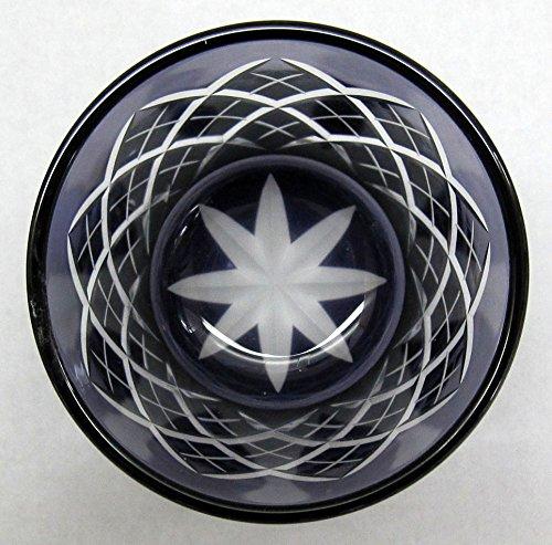 太武朗工房 タブロー 江戸切子 矢来紋 冷酒杯 江戸紫 TB90152-1M