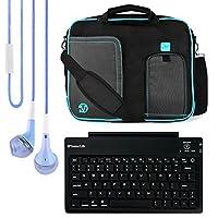 VanGoddy PindarメッセンジャーキャリングバッグAcer用Acer Aspireスイッチ10 E /スイッチ10 / One 10 / Iconiaタブ10タブレット+ Bluetoothキーボード+ヘッドフォン