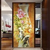 Bzbhart カスタム大壁画絵画リビングルームの入り口の廊下の壁3Dの壁紙の背景3Dの壁紙牡丹-450cmx300cm