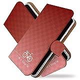 Galaxy S10 SC-03L ケース 手帳型 自転車 チャリ 赤白 チャリンコ 手帳 カバー ギャラクシー エス10 エスシー03エル 手帳型ケース 手帳型カバー サイクリング [自転車 チャリ 赤白/t0755]