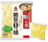 紀文 糖質0g麺 (丸麺) 16個 (オリジナル こんにゃく麺 1個付)クール便発送 【キャンセル、返品不可】