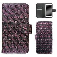 whitenuts Galaxy S7 edge SC-02H ケース 手帳型 星模様 ピンク スマホケース ギャラクシー エスセブン エッジ 手帳 カバー 全機種対応 WN-OD124777_L