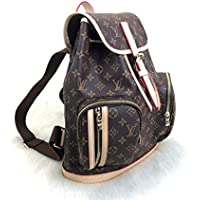 Monogram Bosphore Style Genuine%100 Canvas LEather Backpack Handbags