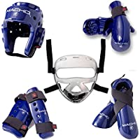 Macho Dyna 8 Piece Sparring Gear Set with Shin Guards andフェースシールド