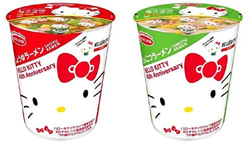 ハローキティ45周年お祝いカップ麺(とんこつラーメン)のパッケージの画像