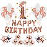 Ymgot 1歳 誕生日 飾り付け セット ハッピーバースデーバルーン 風船 ガーランド デコレーション