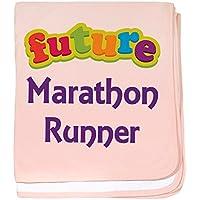 CafePress – 将来マラソンランナー – スーパーソフトベビー毛布、新生児おくるみ ピンク 07750942796832E