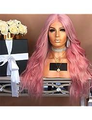 Intercorey 1102-872人工毛ロングウェーブのかかったかつらレディース耐熱性のある女性偽の髪女性の髪飾り
